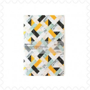 Notepad yellow marble design made in Barcelona