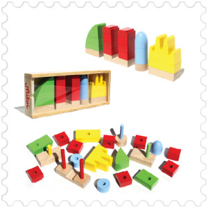Micity Barcelona, wooden building game kids icons kids