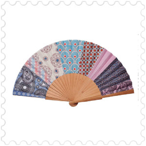 Patchwork oriental fan